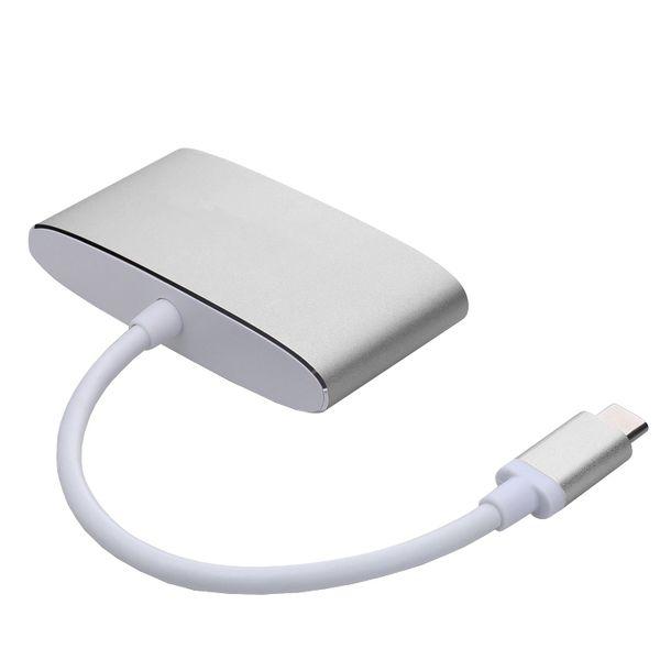 Typ C USB 3.1 Hub USB-C zu USB 3.0 / VGA / Typ C-Anschluss Ladegerät Adapter für Macbooks vom Typ C