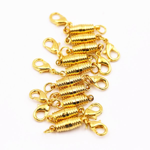 10pcs Gold Lobster clasp + golden thread magnetic buckle bracelet necklace clasp 17*5mm