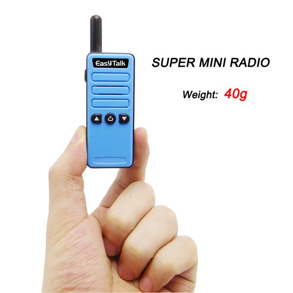 Earpiece 2x Walkie Talkie MINI Spy Radio UHF Built in Speaker ham Radio 16 Ch