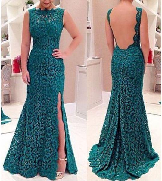 Женская весна лето полный кружева сторона щелевая юбка One piece элегантный макси удлинить платья женский высокое качество вечер свадьба тонкий платье