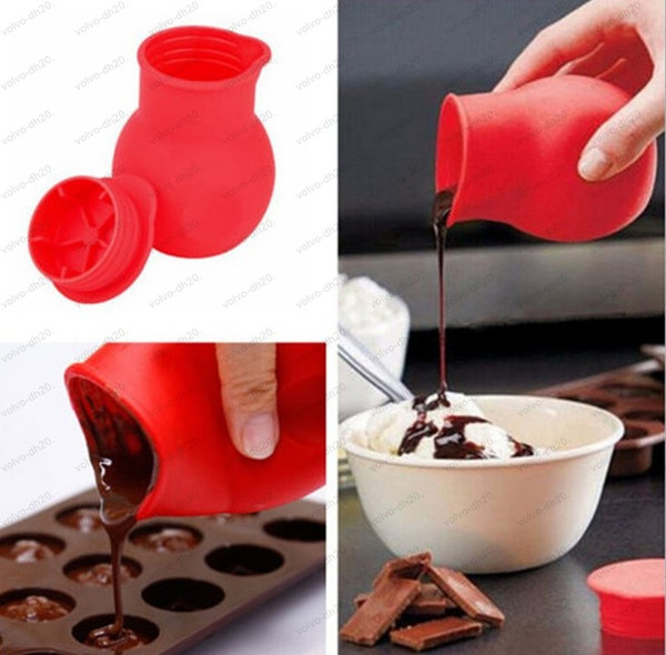 2019 Practical Silicone Chocolate Melting Pot Mould Butter Sauce Milk Baking Pouring Liquid Holding Fresh Keeping Jars Bottles Llfa From Volvo Dh2010