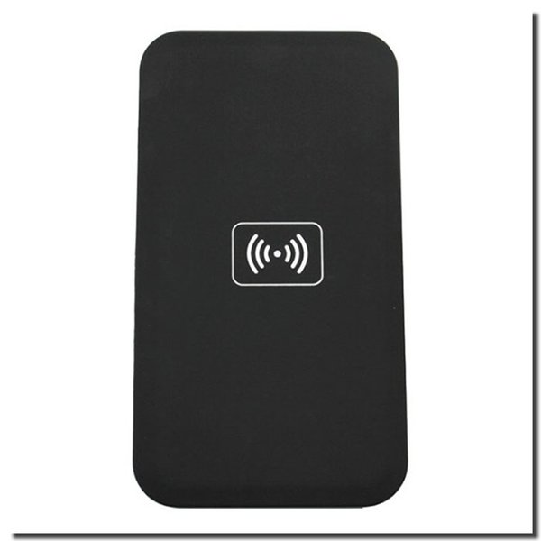 black wireless charger pad