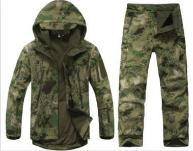 Wholesale-TAD V 4.0 Erkekler Açık Avcılık Kamp Su Geçirmez Rüzgar Geçirmez Coats Ceket Hoody TAD softshell Ceket + Pantolon Suit