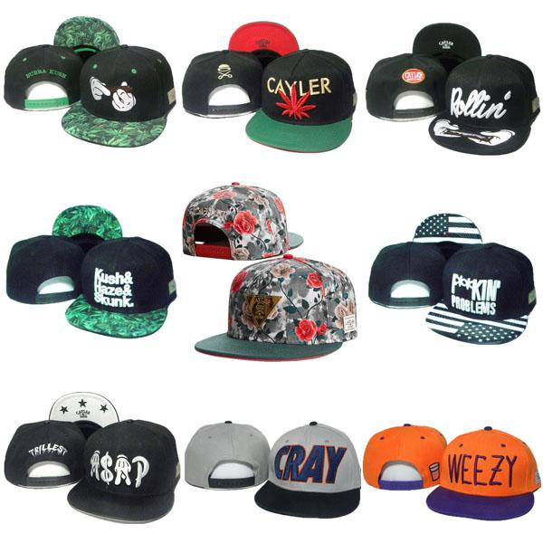 31 Styles Cayler & Sons Caps Snapback Mens Women Hats Biggie Brooklyn Cap Snap Backs Sport ASAP WEEZY CRAY Hat Golden Logo Cheap Sale