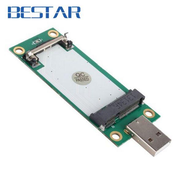 Wholesale- Mini PCI-Express pcie pci express PCI-E Wireless WWAN to USB Adapter Card with SIM Card Slot Module Testing Tools