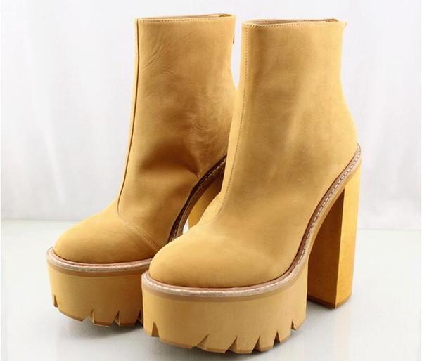 bb734d743e36 Fashion Jeffrey Campbell  Mulder  Platform Booties 15CM Brown Pink Black  Women s Genuine