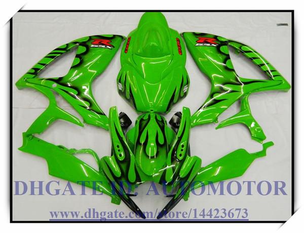 Kit de carenado de alta calidad 100% nuevo adecuado para Suzuki GSXR600 / 750 K6 2006 2007 GSXR 600 GSXR 750 06-07 # IW838 GREEN