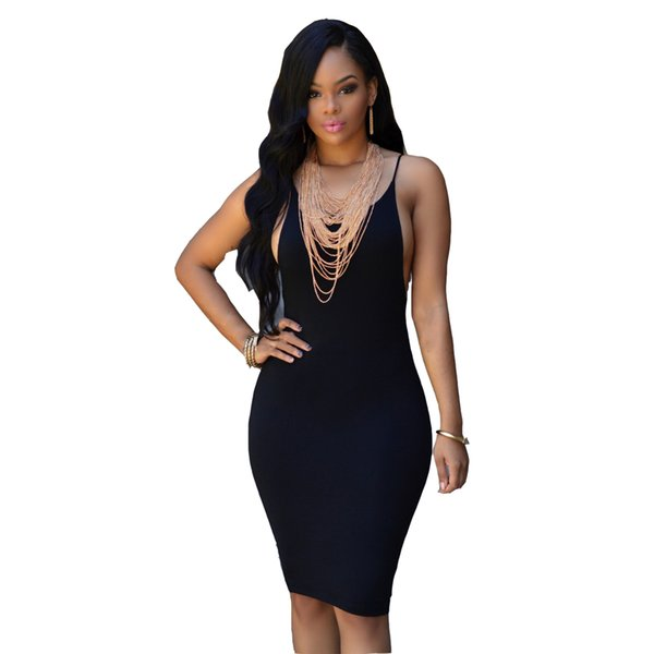 Cheap sexy tight halter dress skirt black, blue and red LYQ026