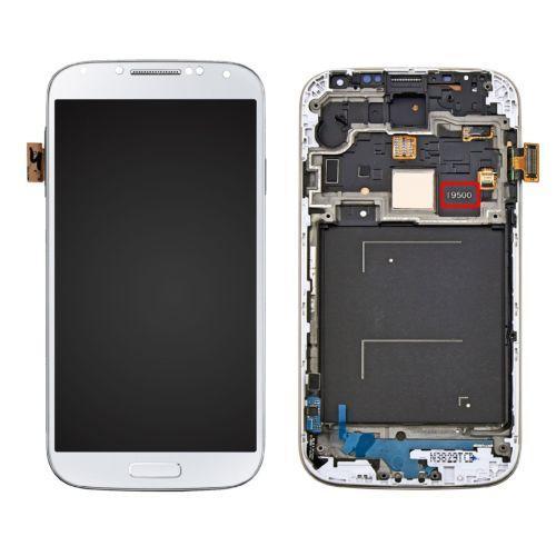 hidden logo For Samsung Galaxy S4 I9500 LCD Display+touch Screen Digitizer +frame