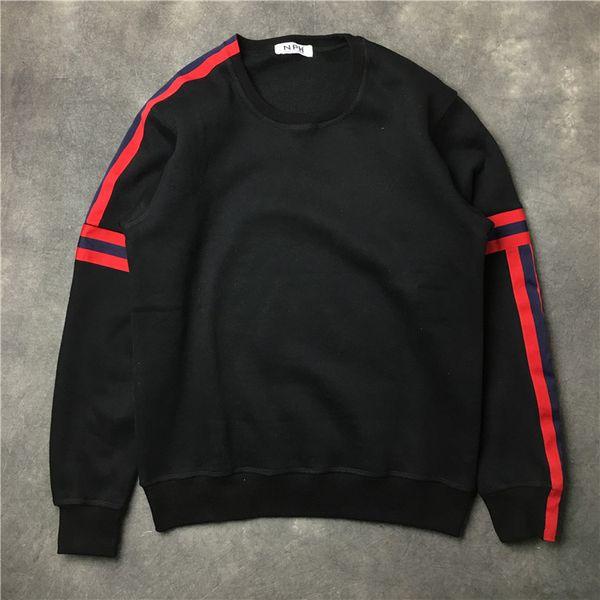 2017 autumn winter New fashion brand men coat Sweater red stripe men simple pullover Long sleeve Casual sports sweatshirt