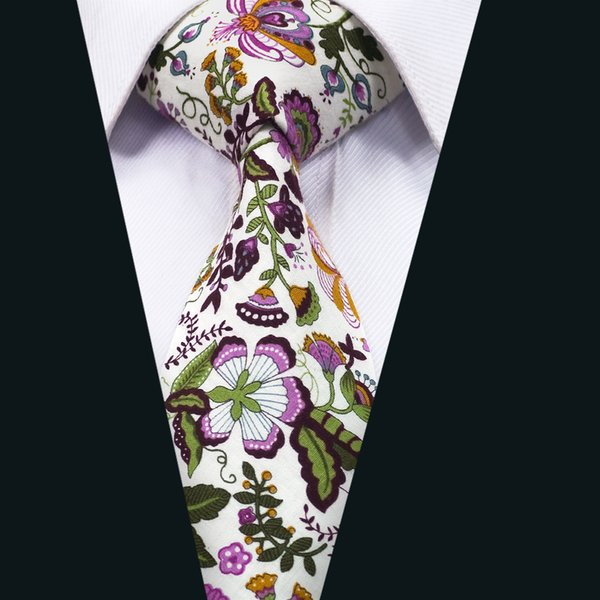 Classic Mens Ties Floral Mens Neck Tie Colorful Men Ties with High Quality for Business Wedding Party Gift Free Shipping D-1310