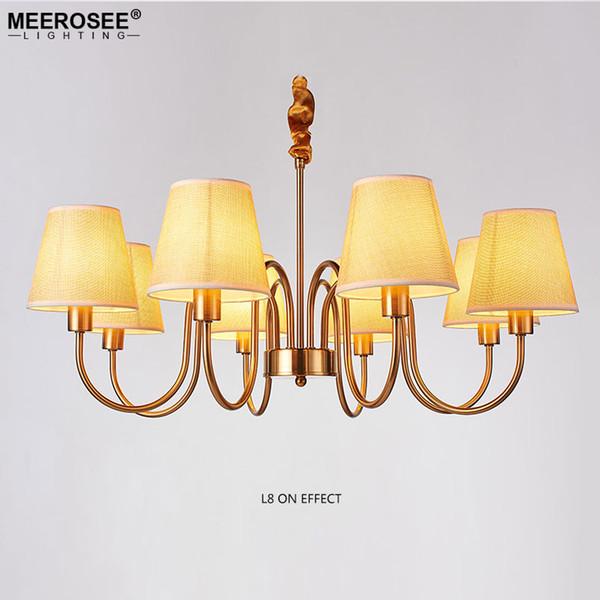 Amerikanischen Landhausstil Kronleuchter Licht Eisen Schmiede Lüster Lampe für Schlafzimmer Esszimmer Hängen Suspendierung Beleuchtung