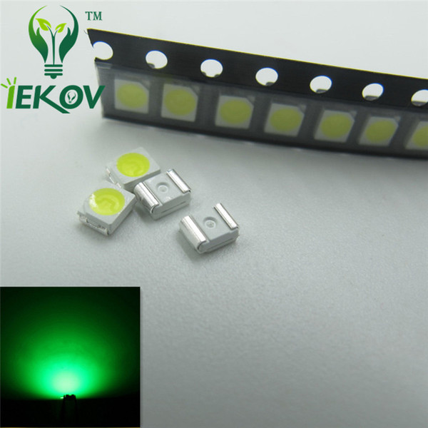 1000pcs 1210 3528 Greeen LED 3.0-3.2V SMD highlight light-emitting diodes High quality PLCC-2 520-530nm SMD/SMT Chip lamp beads