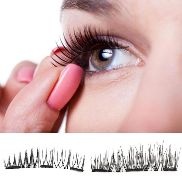 top popular Triple Magnetic Eye Lashes 3D Mink Reusable False Magnet Eyelashes Extension 3d eyelash extensions magnetic eyelashes makeup X073 2020