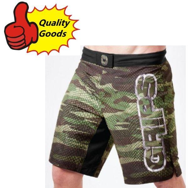 best selling In stock-MMA GRIPS CAMO SNAKE HYBRID TRAINING SHORTS Muay Thai MMA Shorts Fight Shorts-Black