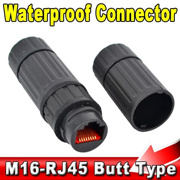 Wholesale- Waterproof M16 IP68 Ethernet Network LAN Cable RJ45 Female to Female Connector Adapter Plug Socket Waterproof Connector