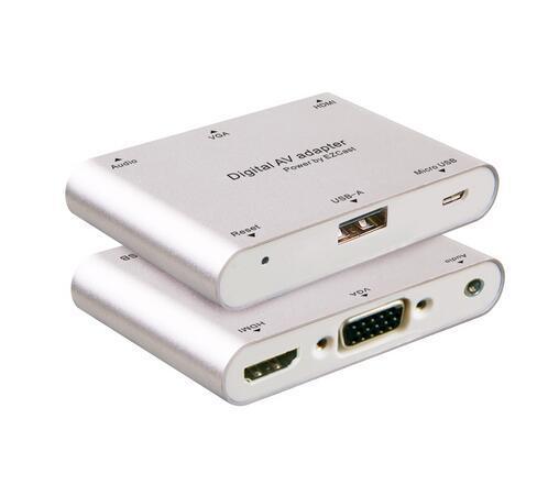 El más nuevo 1080P Digital AV adaptador multipuerto teléfono a HDMI / VGA / adaptador de video con la caja al por menor