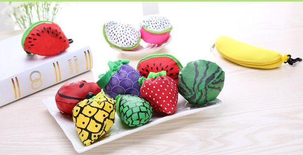 top popular Free shipping Cute Useful Fruit Watermelon Pitaya Foldable Eco Reusable Shopping Bags 2019