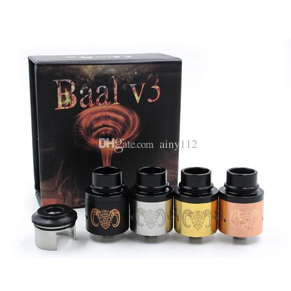 Vaporizer Baal V3 Rebuildable Dripping Atomizer Clone BAAL V3 RDA for Vape box mod mechanical mod with peek insulator DHL free