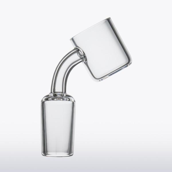 Newest flat top banger short neck 24mm XL quartz banger Honey Bucket nails 10mm 14mm 18mm male female domeless nail for glass bong