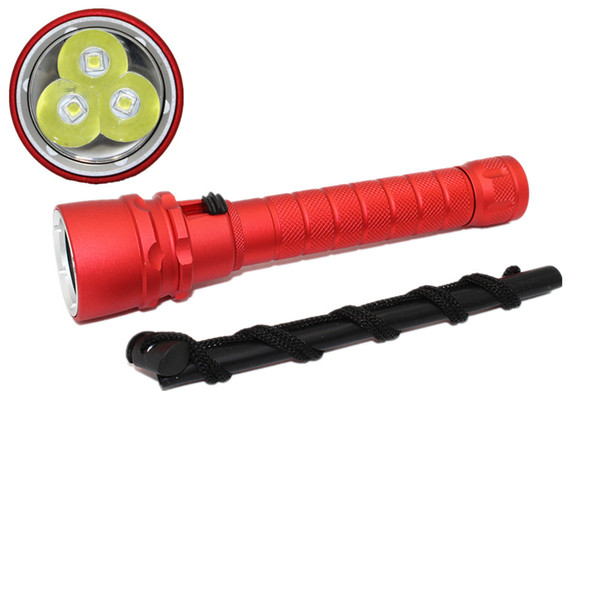 KC Fire LED CREE XML T6 5000LM Scuba Diving Flashlight Torch Power Waterproof Flash Lamp Lantern Underwater 100M Lamp