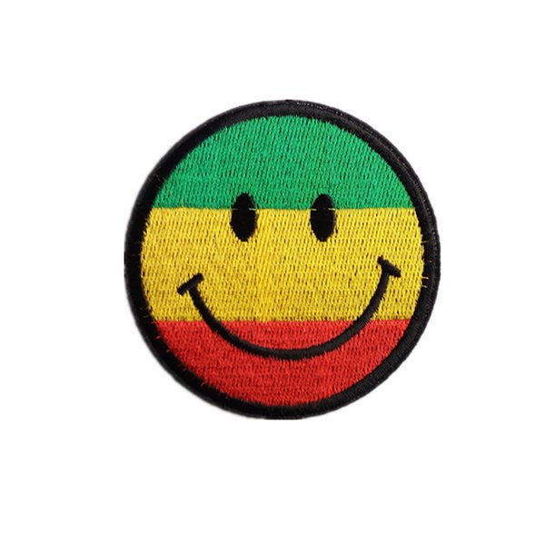 Embroidery patch Smiling face shape Iron patch cloth Back gum appliques skirt jeans jacket racksack sewing decorative accessories DL_CPIS002