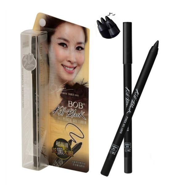 BOB Kill Black Eye Gel Eyeliner Ultra HD Долговечный глазный вкладыш Водонепроницаемый макияж для глаз