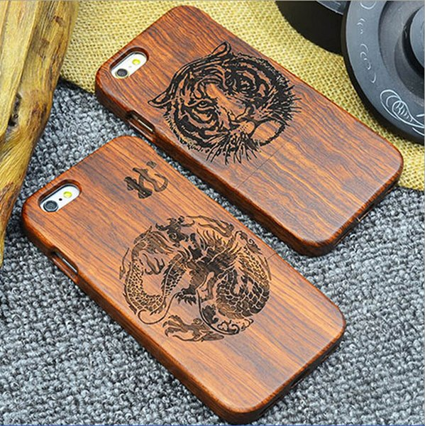 High-End Wooden Case Custom 100% Real Wood Phone Case for iPhone 5 6 Mobile Cover Case