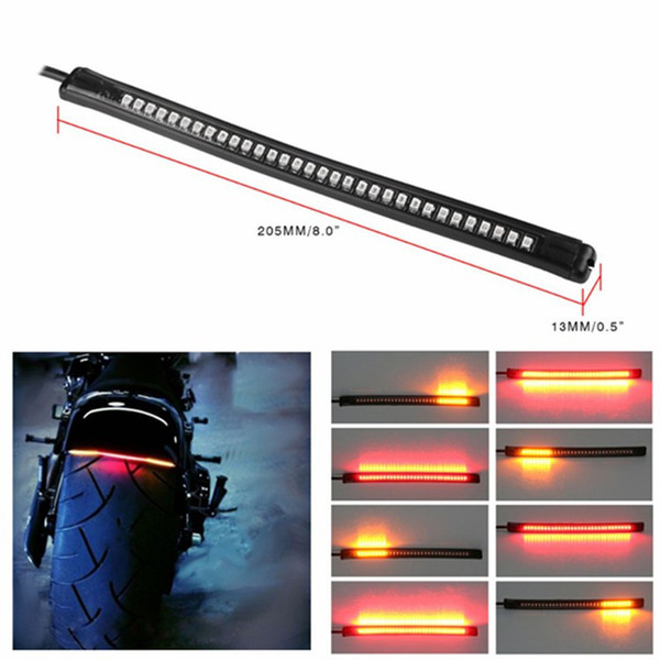 best selling Universal Flexible 32SMD Motorcycle Tail Brake Stop Turn Signal Integrated 3258 LED Light,waterproof motorcycle license light