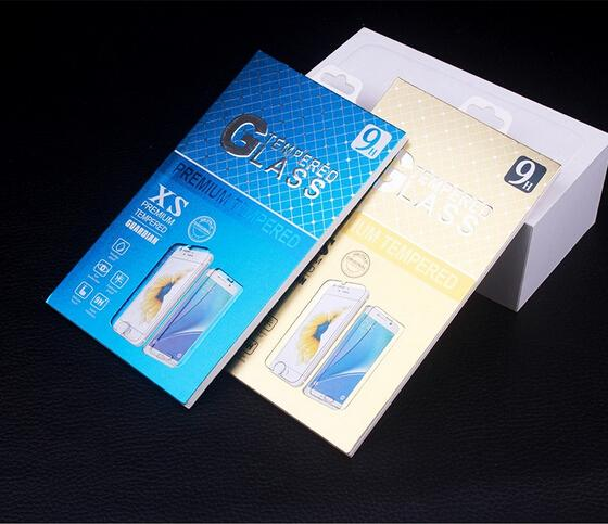 174*100mm Universal Paper Retail Package Packaging Box With hanger for Mobile Phone Tempered Glass Screen Protector Box 200PCS/lot