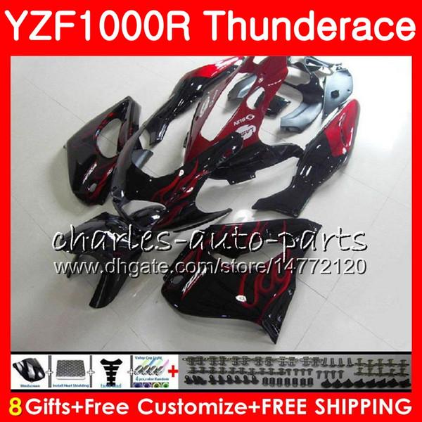 Body For YAMAHA Thunderace TOP red black YZF1000R 96 97 98 99 00 01 07 84NO19 YZF-1000R YZF 1000R 1996 1997 1998 1999 2000 2001 2007 Fairing