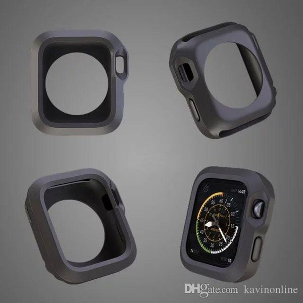 For Iwatch Cases Color Apple Watch Case TPU Silicone Soft Cover For Apple Watch 38mm 42mm Iwatch 100Pcs/Lot DHL