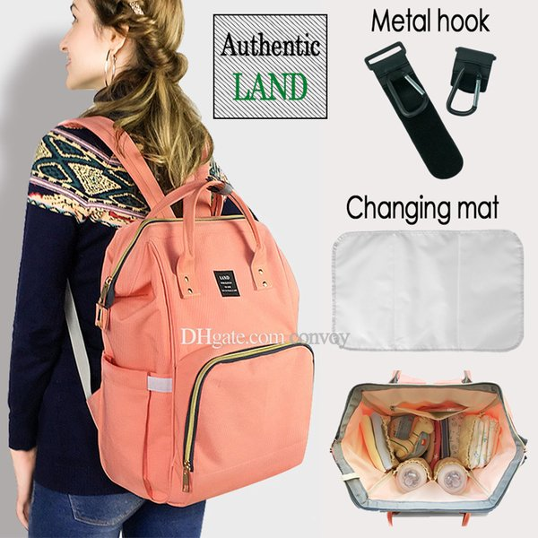 2018 Land 26 colors Mommy Backpacks Nappies Bags Mother Maternity Diaper Backpack Large Volume Outdoor Travel Bags Organizer Free DHL MPB01