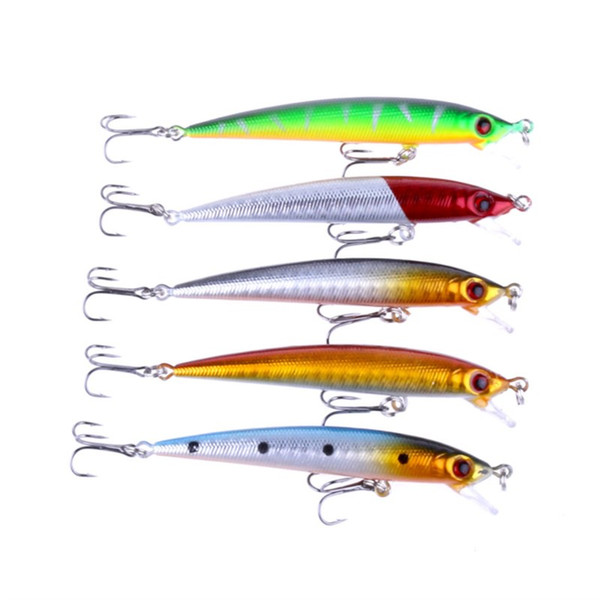5PCS Jerkbaits Fishing Lures 8.5cm Minnow Hard Baits with 6# Fishing Hooks and 6G Lifelike Fake Lure for Fishing Carp