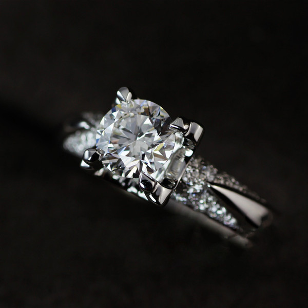Have Silver Certificate!!! Real 100% 925 Sterling Silver Engagement Ring Set 1.25 Ct Simulated Diamond Wedding Rings For Women