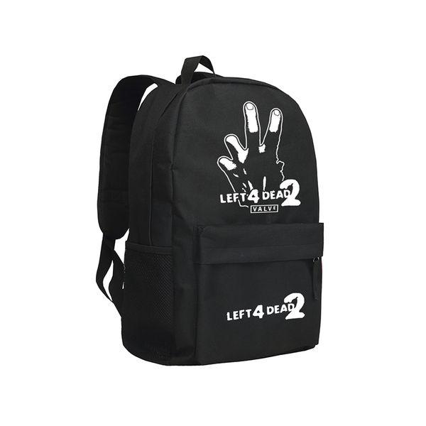 Cool Backpacks Left 4 Dead No Mercy Death Toll Backpacks for Teenagers Oxford Mochila Students Children Bookbag Dead Air Blood Harvest