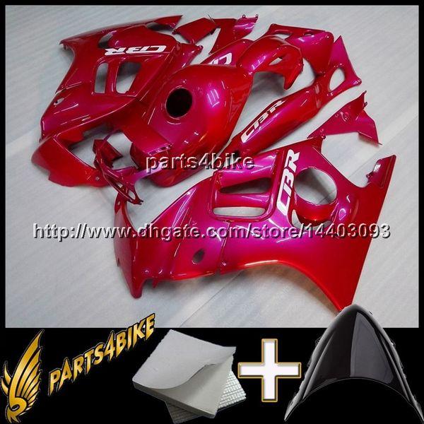 23 couleurs + 8Gifts rouge CBR600F3 97-98 CBR600 F3 97 98 Carénages en ABS Set de carrosserie en plastique Kit de carrosserie Carénage pour Honda CBR 600 F3 1997 1998