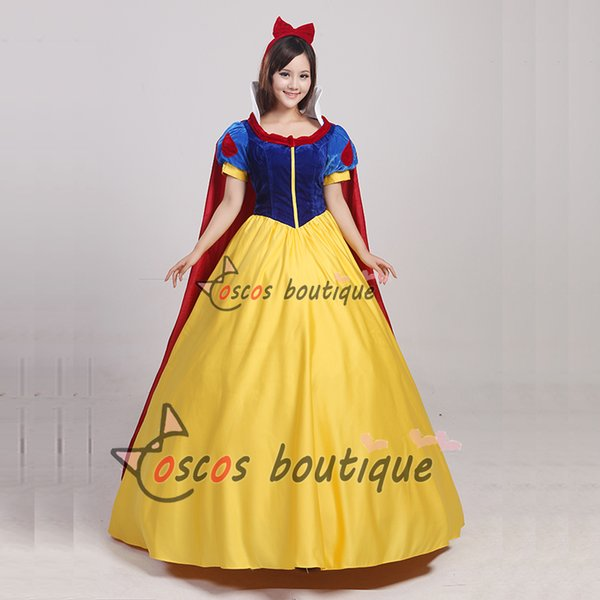Adult Snow White Princess Dress Costume Women Fancy Party Dress Ball ...