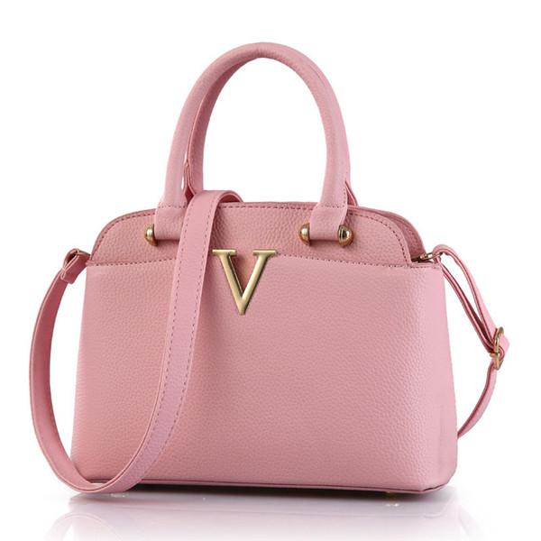 2017 Fashion V Metal Designers Bags Handbags Women Famous Brand Bolsas Femininas Female Shoulder Bag Messenger Bags Ladies Tote Bag Handbag