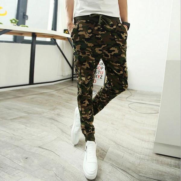 Camo baggy Joggers Moda Slim Fit Kamuflaj Koşu Pantolon Erkekler Harem Eşofman Altı Kargo Pantolon için Parça Eğitim pantolon