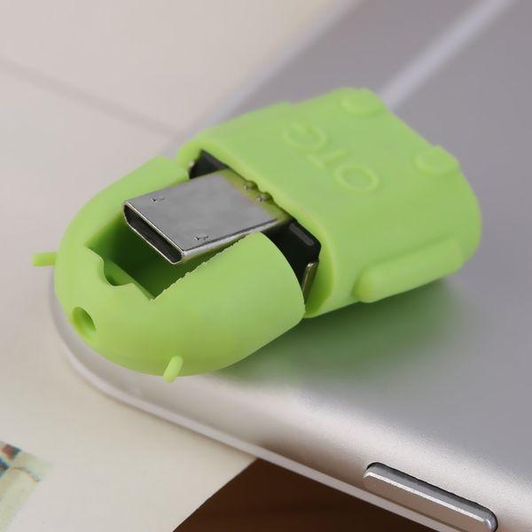 Robot Micro USB a USB 2.0 adaptador adaptador OTG para la tableta del teléfono Android