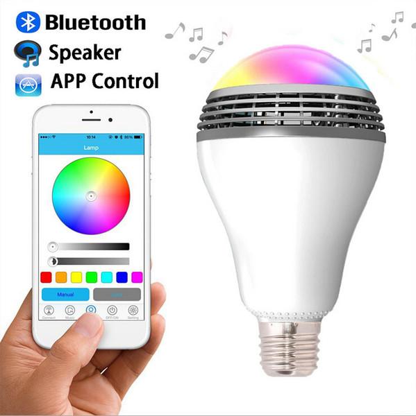 Смарт лампа E27 RGB LED управление Bluetooth динамик телефона Light