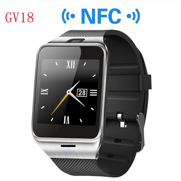2016 Bluetooth Phone GV18 Smartwatches 1.5 inch NFC Smart Watch With touch Screen Camera SIM GSM Phone Call for Android Phone Wholesale