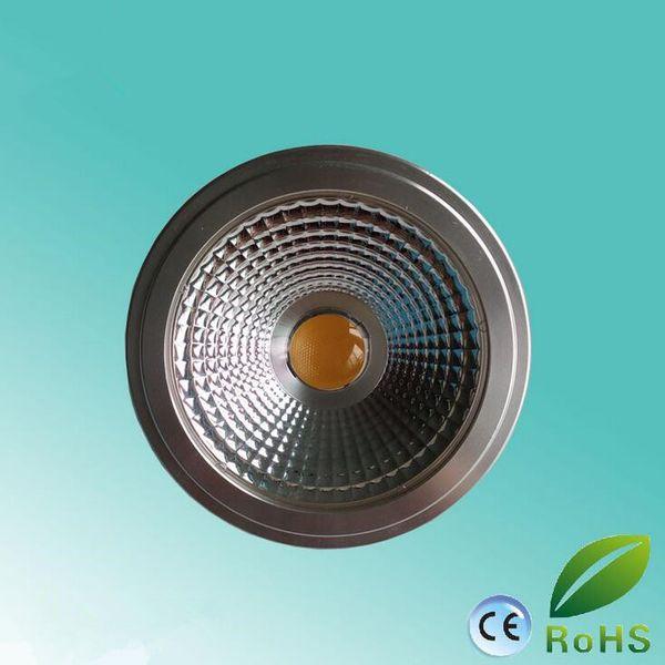 New LED AR111 spotlight dimmable 15W GU10/E27/G53 bulb light with glare-free design AC85-265V/DC12V 100W Halogen Equivalent,
