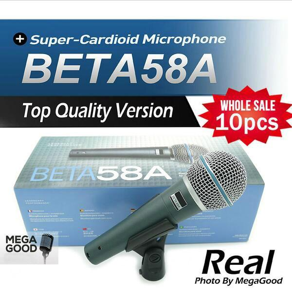 Real Transformer 10pcs Top Quality Version Beta 58 a Vocal Karaoke Handheld Dynamic Wired Microphone BETA58 Microfone Beta 58 A Mic