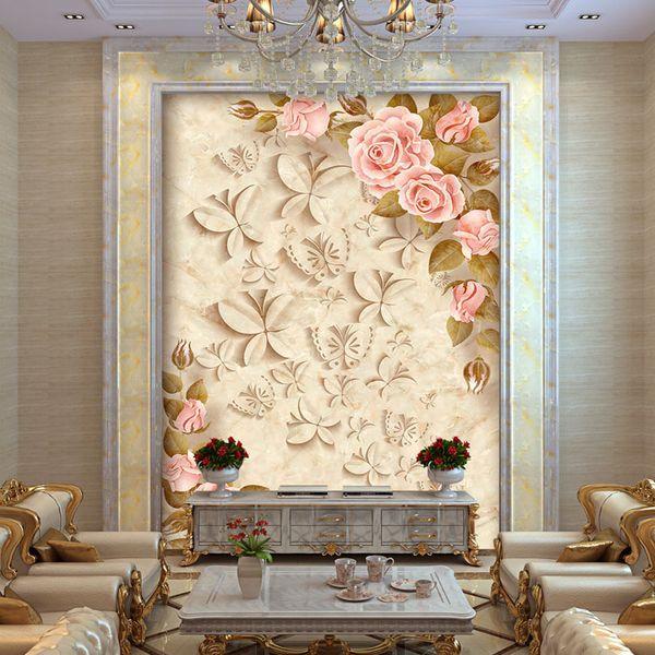 Großhandel Europa Rose Blumen Fototapete Benutzerdefinierte 3D Tapete  Elegante Wandmalereien Kinder Schlafzimmer Kindergarten Bar Wohnzimmer  Dekor ...