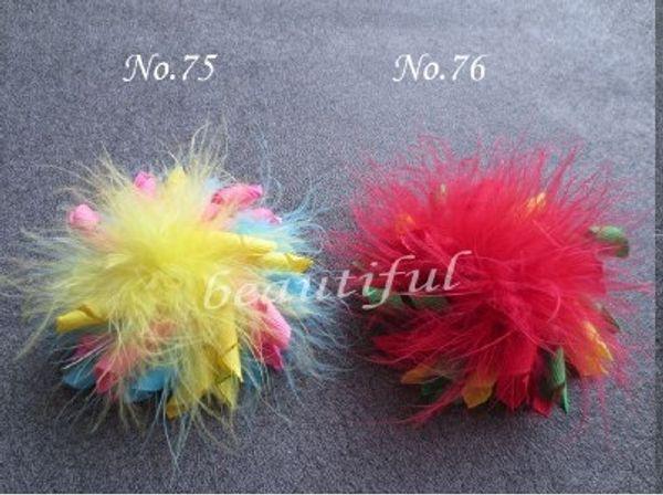 Atacado-Feather Corker frete grátis menina Boutique 20pc definir 3,5