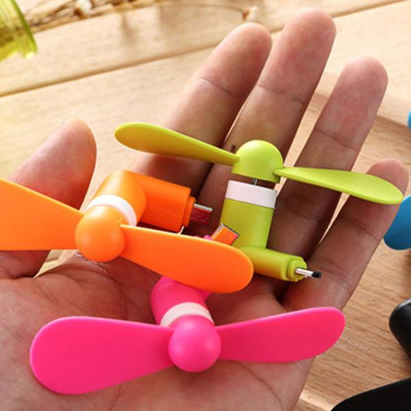 Taşınabilir Mini USB Fan Yüksek Hızlı Güçlü Rüzgar iphone Android için Tip-C Xiaomi Mi Cep Telefonu Smartphone Tablet Evrensel Esnek USB Fan