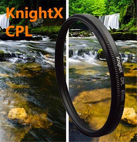 KnightX 49-77mm 67MM Filtre cpl pour Canon Nikon D5300 D5500 Appareil photo reflex numérique Objectifs Objectifs Accessoires pour objectifs Appareil photo d5200 d3300 d3100 d5100