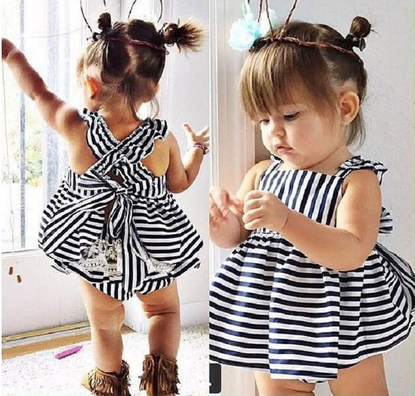 Ins Hot Sell Baby Kids Clothing Adorable Girls Clothes Princess White Blue Dress + PP Pans 2pcs Sets Babies Tops Pants Outfits Lovely 9453